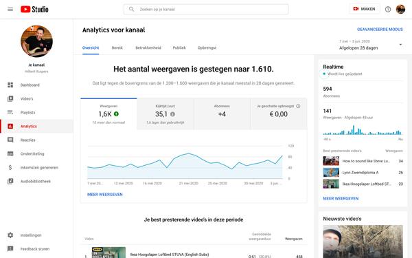 youtube kanaal beheer e2omedia
